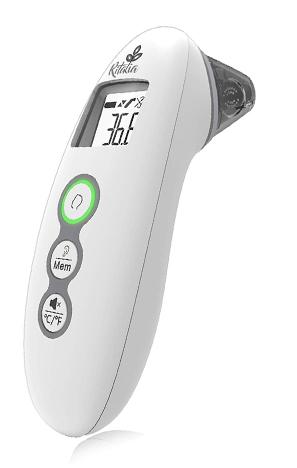 Ritalia Termómetro digital frente y oído Termómetro medico infrarrojo para bebés Multifunción 4 en 1 Alarma de fiebre, lectura instantánea para niños adultos y objetos, Certificado CE/ROHS y FDA