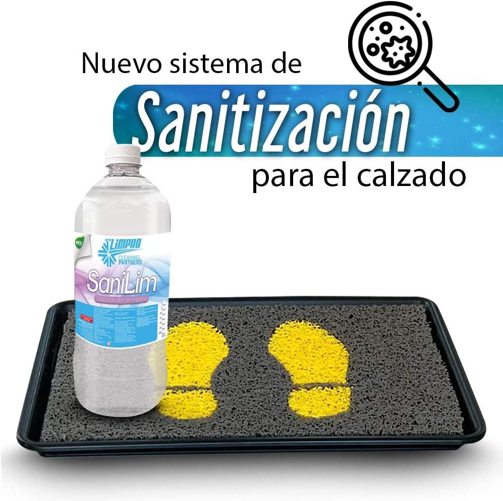 Limpro Tapete Lavable Sanitizante de Alta Calidad para Calzado 46 x 35.5 cm Elimina bacterias y microorganismos Hogar Incluye 1 Litro de Sanitizante