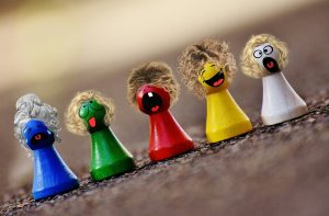 play stone, colorful, smilies